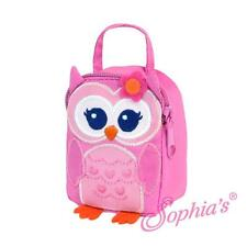 """Pink Owl Fabric Lunch Bag for 18"""" American Girl Doll"""