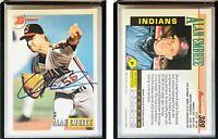 Alan Embree Signed 1993 Bowman #389 Card Cleveland Indians Auto Autograph