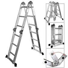 15.5ft Position Ladder Heavy Duty Scaffold Folding Telescoping Step Stairway