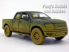 Ford F-150 SVT Raptor 1/46 Scale Diecast Metal Model by Kinsmart - BLUE/MUDDY