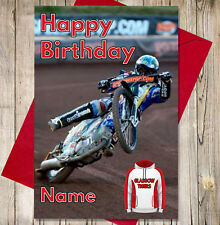 Personalised Speedway Birthday Card - Glasgow Tigers - Any NAME & AGE