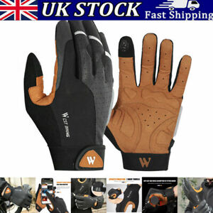 Road Mountain Bike Bicycle Cycling Full Finger Gloves BMX MTB Touchscreen Unisex
