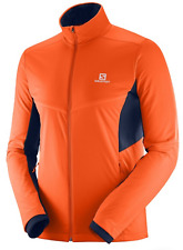 Salomon Men's Agile Warm Jacket Medium Scarlet Ibis