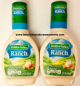 TWO Bottles Hidden Valley Ranch Dressing 8fl Oz 236ml EACH American Import