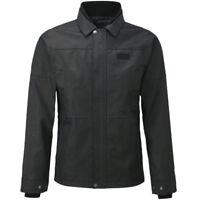 Knox Leonard Wax Jacket Black Waterproof Textile Motorcycle Jacket NEW RRP £230