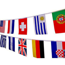 "Russia World Cup 2018 32 Team Flags 6""X9"" Bunting 9.9 Metres Long"