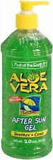 Fruit of the Earth Aloe Vera After Sun Gel Alcohol Free 20 Ounce, 12 Pack