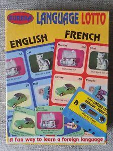 Vintage Eureka Language Lotto English French Tape board game