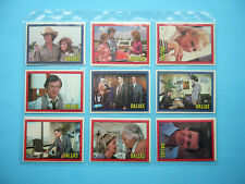 SET 56 1981 LORIMAR PRODUCTS INC. DALLAS TELEVISION SHOW TRADING CARDS SHARP!!