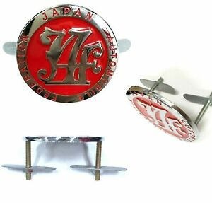 Japan Automobile Federation JDM JAF METAL Emblem Badge For All Cars Front Grille