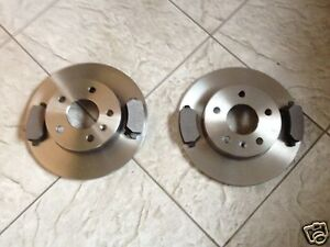 FORD MONDEO MK 4 2007- TWO REAR BRAKE DISCS AND A SET OF BRAKE PADS LH AND RH