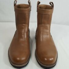 Tommy Hilfiger Men's Leather Boots Sz 9 1/2 Cowboy Western Riding Bryant Brown