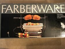 Vintage NIOB Mint Farberware Open Hearth Electric Broiler Rotisserie Grill 455ND
