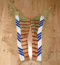 Vintage Native american Indianer Chaps, Beaded and colored,