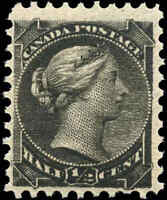 1882 Mint NH Canada F+ Scott #34 1/2c Small Queen Issue Stamp