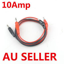 10A ATTEN Alligator Multimeter Power Supply Test Leads 4mm banana plug Clips OZ