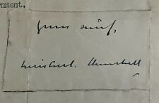 More details for sir winston churchill hand signed letter 1941 second world war downing street