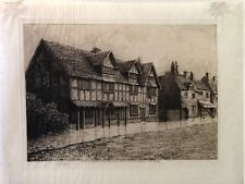 Etching of William Shakespeare's house