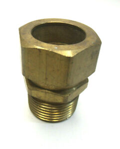 "3/4"" NPT Male x 3/4"" Compression Brass Fitting"