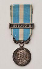 """Médaille coloniale, argent, barrette """"Iles de la Société"""""""