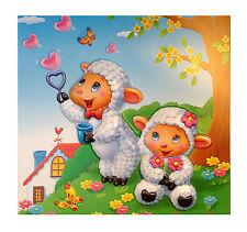 Little Bo Peep Color Boy Girl Lamb Picture Italian European Happy Wall Pic New