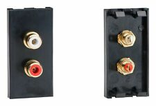 Varilight Z2GPH2B DataGrid Black Double Phono (RCA) Socket Female (1 Space)