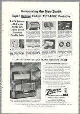 1954 ZENITH TRANS-OCEANIC Radio advertisement, Super Trans-Oceanic shortwave
