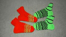 Super Warm 100% Wool Winter Socks Fuzzy Hand Knitted New Size 9-11 2 sets