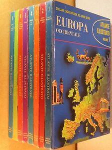 ATLANTE ILLUSTRATO Collana enciclopedica del libro d oro Mondadori 8 volumi di