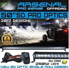 "No.1 50"" 5D Projector Pro Optic Single Row Straight Cree 250W LED Light Bar"