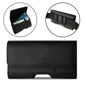 Agoz Leather Sideways Belt Clip Pouch for Samsung Galaxy FITTED WITH Otterbox