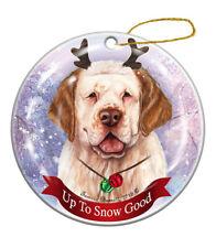 Holiday Pet Gifts Clumber Spaniel Orange Dog Porcelain Christmas Ornament