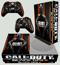 Xbox One S Slim Console Sticker Cod BO3 Call of Duty Black Ops 3 & 2 Pad Skins