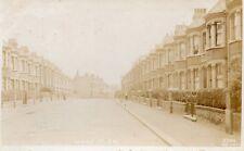 LONDON Lysias Road Wandsworth Street Scene Edwardian Real Photo Postcard (96L)