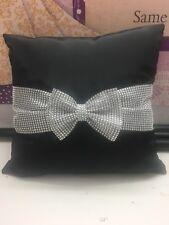 Diamanté Bow Cushion Covers