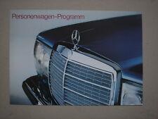MERCEDES BENZ  Personenwagen Programm  brochure / Prospekt  1977.