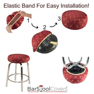 Bar Stool Cover Fabric SLIP ON Premium Cloth Replacement Office, Kitchen, Salon