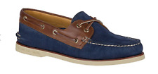 Sperry Gold Cup A/O Navy/Tan Nubuck Boat Shoe Men's sizes 7-12/NEW