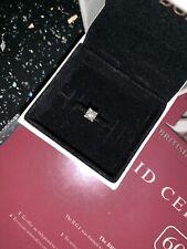 Platinum Solitaire 0.37ct Diamond Engagement Ring Size J - Princess Cut