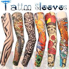 Manche Manchette Faux Tatouage Bras Tatoo Collant Dessins 6 Modèles Différents