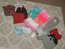 Lot of 16 girls clothes hoodie tops pants swim size L 12-14 mostly name brands