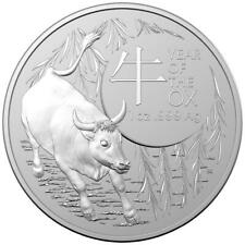 RAM AUSTRALIE 1 Dollar Argent 1 Once Année du Boeuf 2021