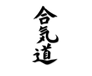 AIKIDO Aufkleber Kampfsport japanische Schriftzeichen Motorrad decal 24 #8366