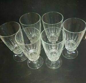 Set 6  Cut Glass   large  Wine,  highball, Soft drink   Glasses.