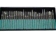 30pc Diamond Burr Set 150 Grit Deburring Engraving Rotary Hobby Dremmel HB265