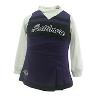 Baltimore Ravens Official NFL Youth Kids 2-Piece Cheerleader Outfit New Tags
