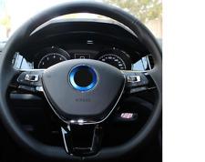 BLUE -  VW Volkswagen GOLF MK6 MK7 JETTA Aluminium Steering Wheel Surround Trim