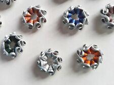50 Stück Aluminium Runde Perlen mit großen Löchern für die