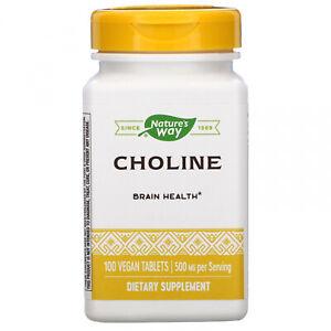 Nature's Way, Choline, 500 Mg, 100 Vegan Tablets