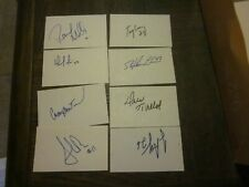 LOT OF 30 SIGNED AUTOGRAPHED 3X5 INDEX CARDS-ALL DIFFERENT-LATE 80'S EARLY 90'S